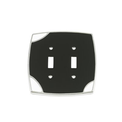 Lumino Double Toggle Switch Plate Finish: Black/White