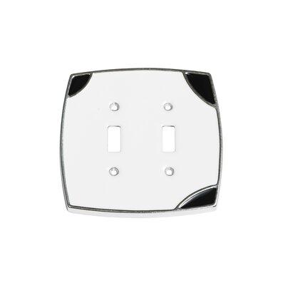 Lumino Double Toggle Switch Plate Finish: White/Black