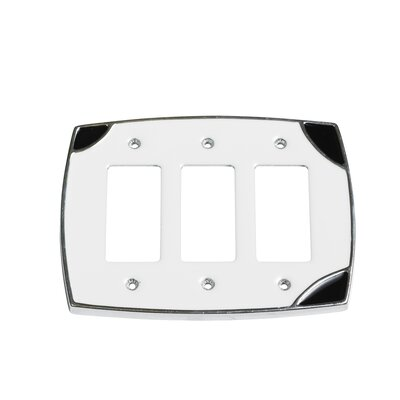 Lumino Triple Rocker Switch Plate Finish: White/Black