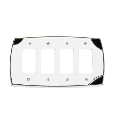 Lumino Quadruple Rocker Switch Plate Finish: White/Black