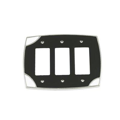 Lumino Triple Rocker Switch Plate Finish: Black/White