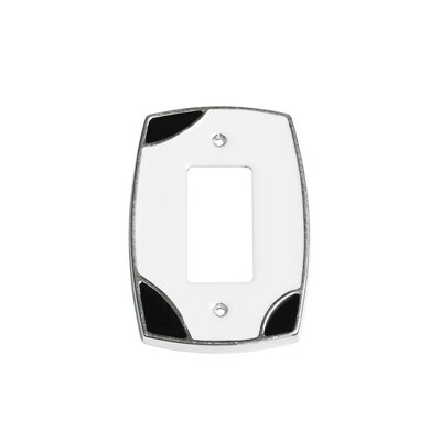 Lumino Single Rocker Switch Plate Finish: White/Black