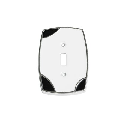 Lumino Single Toggle Switch Plate Finish: White/Black
