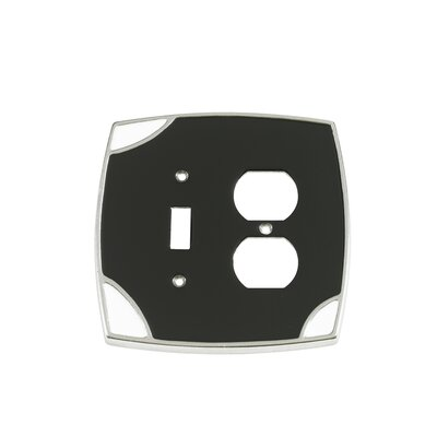 Lumino Single Toggle/Duplex Receptacle Switch Plate Finish: Black/White