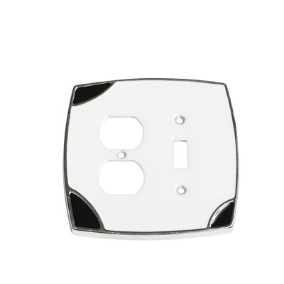 Lumino Single Toggle/Duplex Receptacle Switch Plate Finish: White/Black