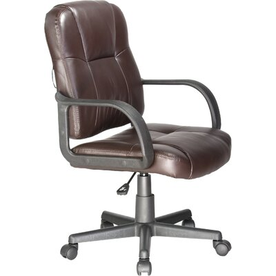 Relaxzen Leather Massage Chair Upholstery: Brown