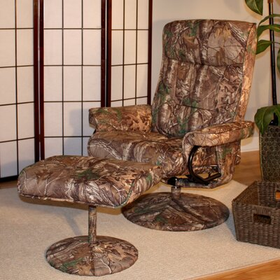 Realtree� Relaxzen Heated and Reclining Massage Chair with Ottoman