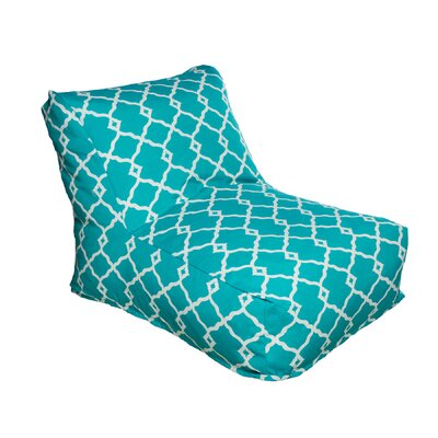 Bean Bag Lounger Color: Turquoise