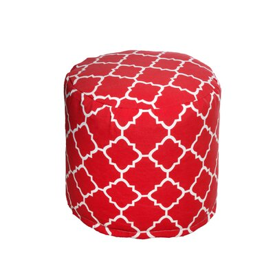 Bean Bag Pouf Color: Red