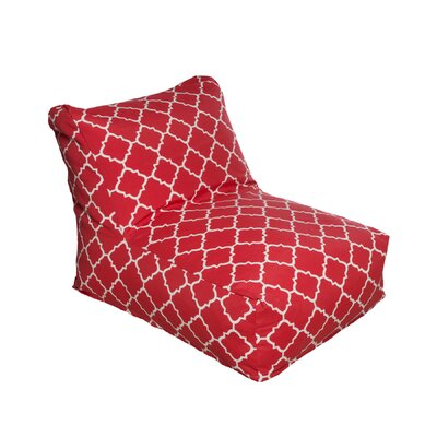 Bean Bag Lounger Color: Red