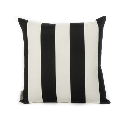 Cabana Throw Pillow Color: Black
