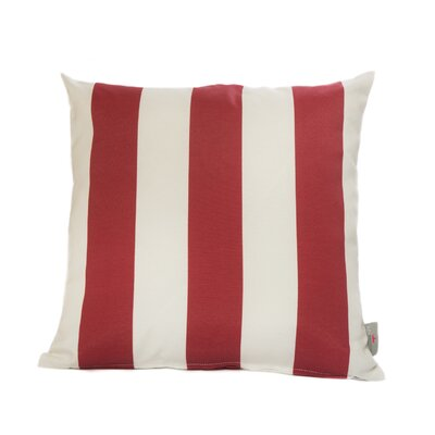 Cabana Throw Pillow Color: Red