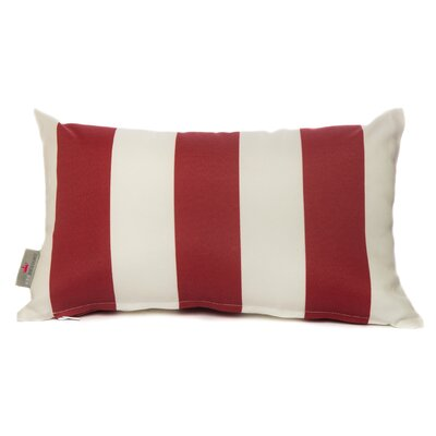 Cabana Lumbar Pillow Color: Red