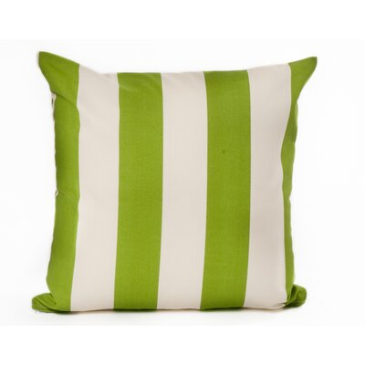 Outdoor Euro Pillow Color: Green/Off-White