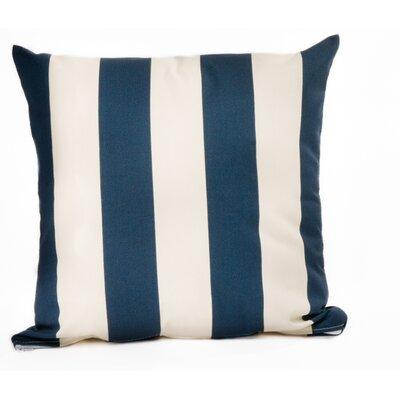 Outdoor Euro Pillow Color: Navy/Off-White