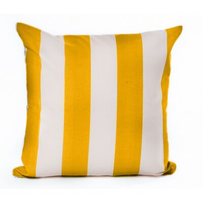Outdoor Euro Pillow Color: Yellow/Off-White