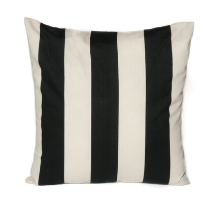 Outdoor Euro Pillow Color: Black/Off-White