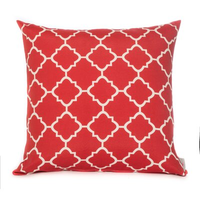 Outdoor Euro Pillow Color: Red