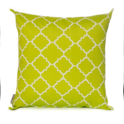 Outdoor Euro Pillow Color: Lime