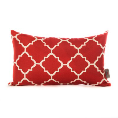 Wilkerson Square Outdoor Throw Pillow Color: Red