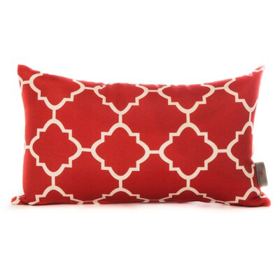 Cotton Lumbar Pillow Color: Red