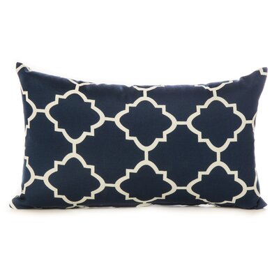 Cotton Lumbar Pillow Color: Navy