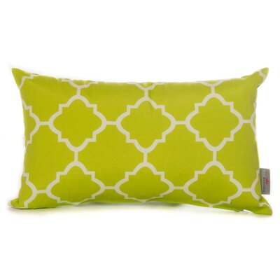 Cotton Lumbar Pillow Color: Lime