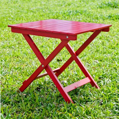 Square Side Table Finish: Red