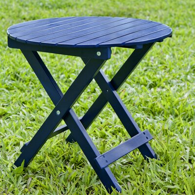 Round Side Table Finish: Navy Blue