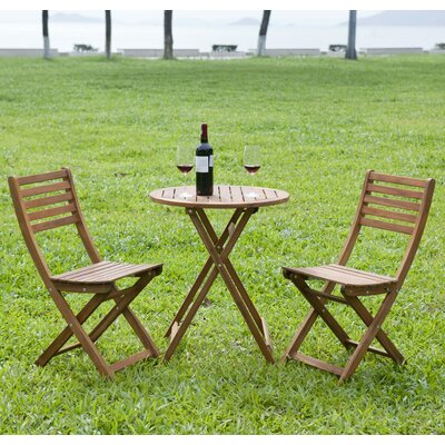 3 Piece Round Bistro Set Finish: Stain