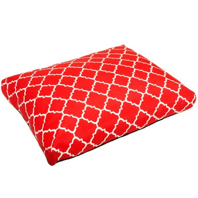 Pet Mat with Removable Cover Size: Small (26 W x 20 D), Color: Red