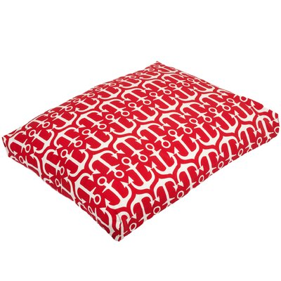 Pet Mat with Removable Cover Color: Red, Size: Medium (29 W x 26 D)