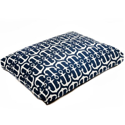 Pet Mat with Removable Cover Color: Navy, Size: Medium (29 W x 26 D)