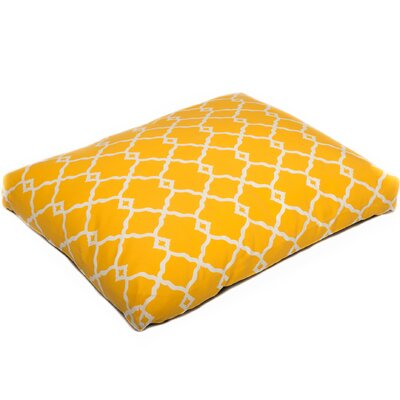 Pet Mat with Removable Cover Size: Small (26 W x 20 D), Color: Yellow