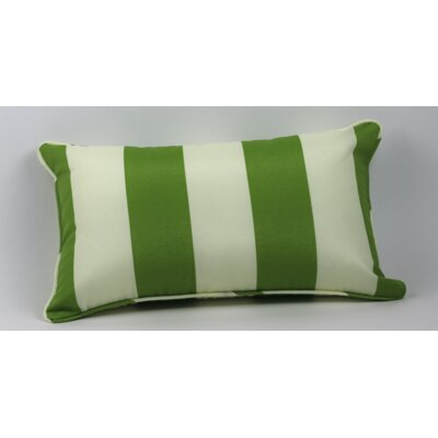 Inlet Outdoor Lumbar Pillow Color: Green/off White