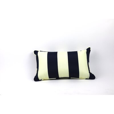 Inlet Outdoor Lumbar Pillow Color: Navy/off White