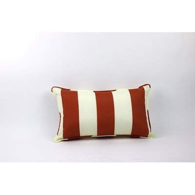 Inlet Outdoor Lumbar Pillow Color: Burnt Orange/Off white