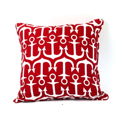Lyla Outdoor Throw Pillow Color: Red
