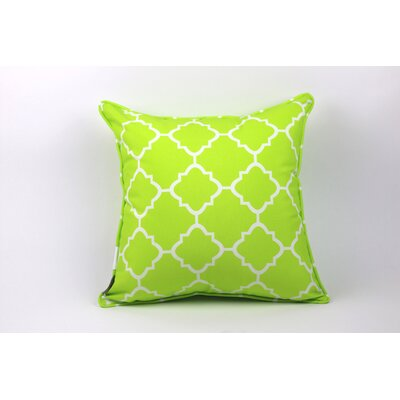 Wilkerson Square Outdoor Throw Pillow Color: Lime