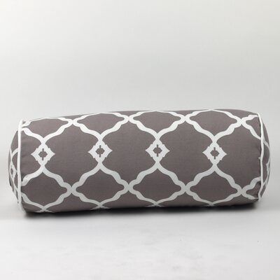 Wilkerson Round Outdoor Piped Edge Bolster Pillow Color: Gray