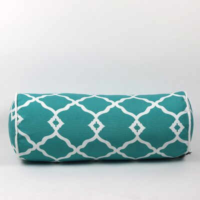 Wilkerson Round Outdoor Piped Edge Bolster Pillow Color: Turquoise