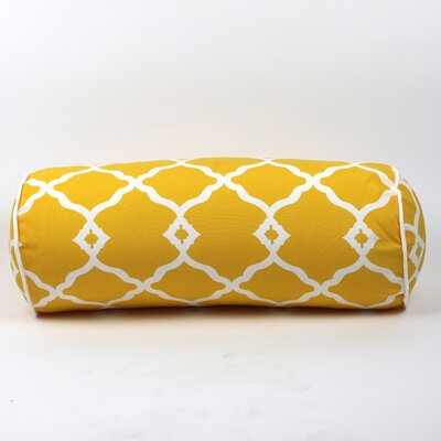 Wilkerson Round Outdoor Piped Edge Bolster Pillow Color: Yellow