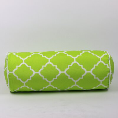 Wilkerson Outdoor Piped Edge Bolster Pillow Color: Lime
