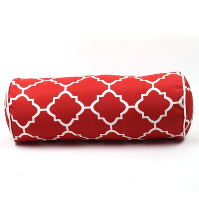 Wilkerson Outdoor Piped Edge Bolster Pillow Color: Red