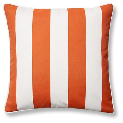 New Bedford Outdoor Throw Pillow Color: Orange