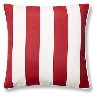 New Bedford Outdoor Throw Pillow Color: Red