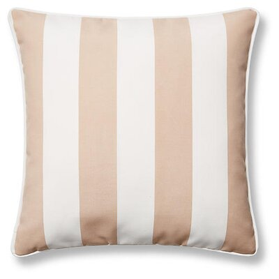New Bedford Outdoor Throw Pillow Color: Beige