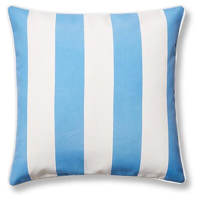 New Bedford Outdoor Throw Pillow Color: Blue