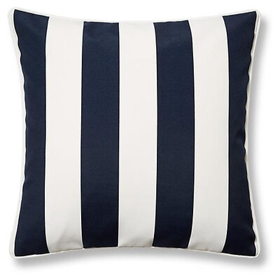 New Bedford Outdoor Throw Pillow Color: Navy