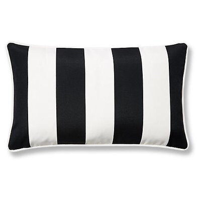 New Bedford Outdoor Lumbar Pillow Color: Black